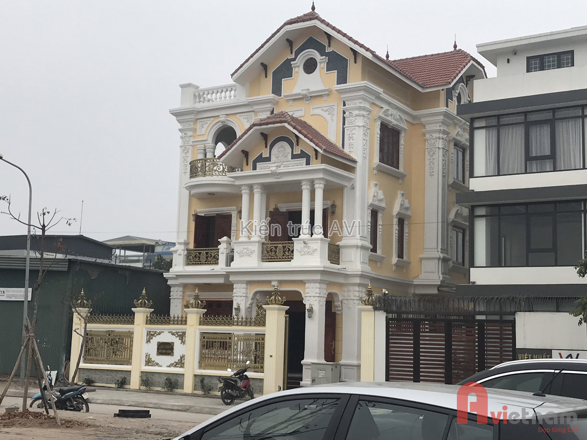 Biệt thự 3 tầng kiến trúc cổ điển pháp