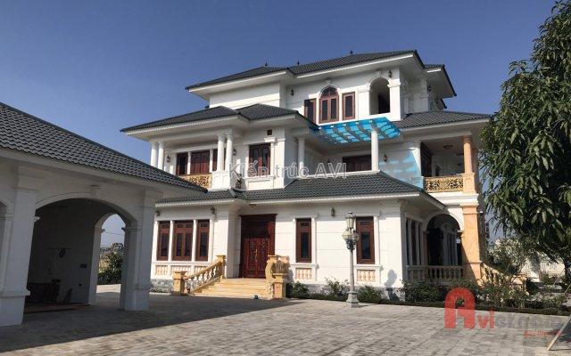 Thi công hoàn thiện biệt thự 3 tầng tân cổ điển ở Thanh Hóa