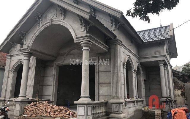 Thiết kế thi công hoàn thiện biệt thự vườn 1 tầng tại Hà Nội