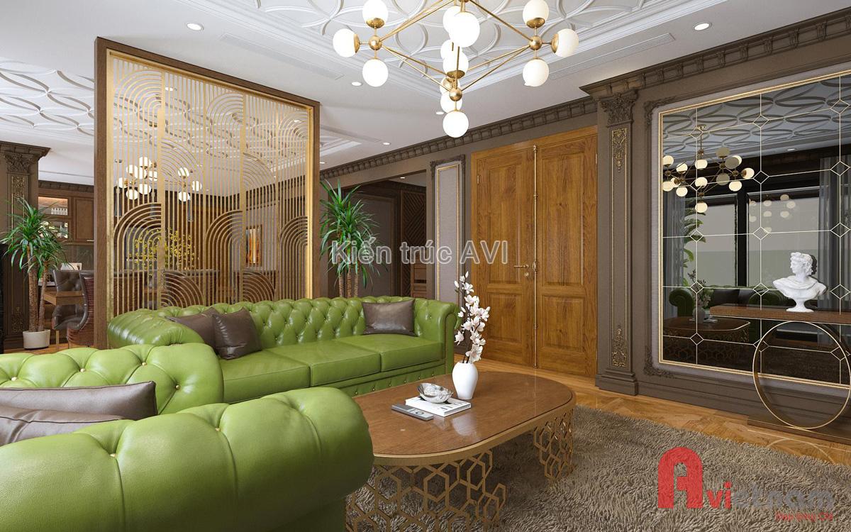 Mẫu thiết kế nội thất chung cư tân cổ điển