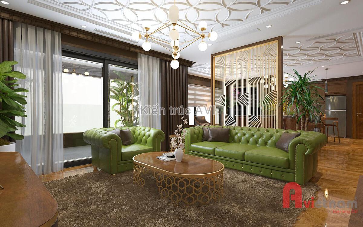 Thiết kế nội thất chung cư tân cổ điển châu âu tại Hà Nội
