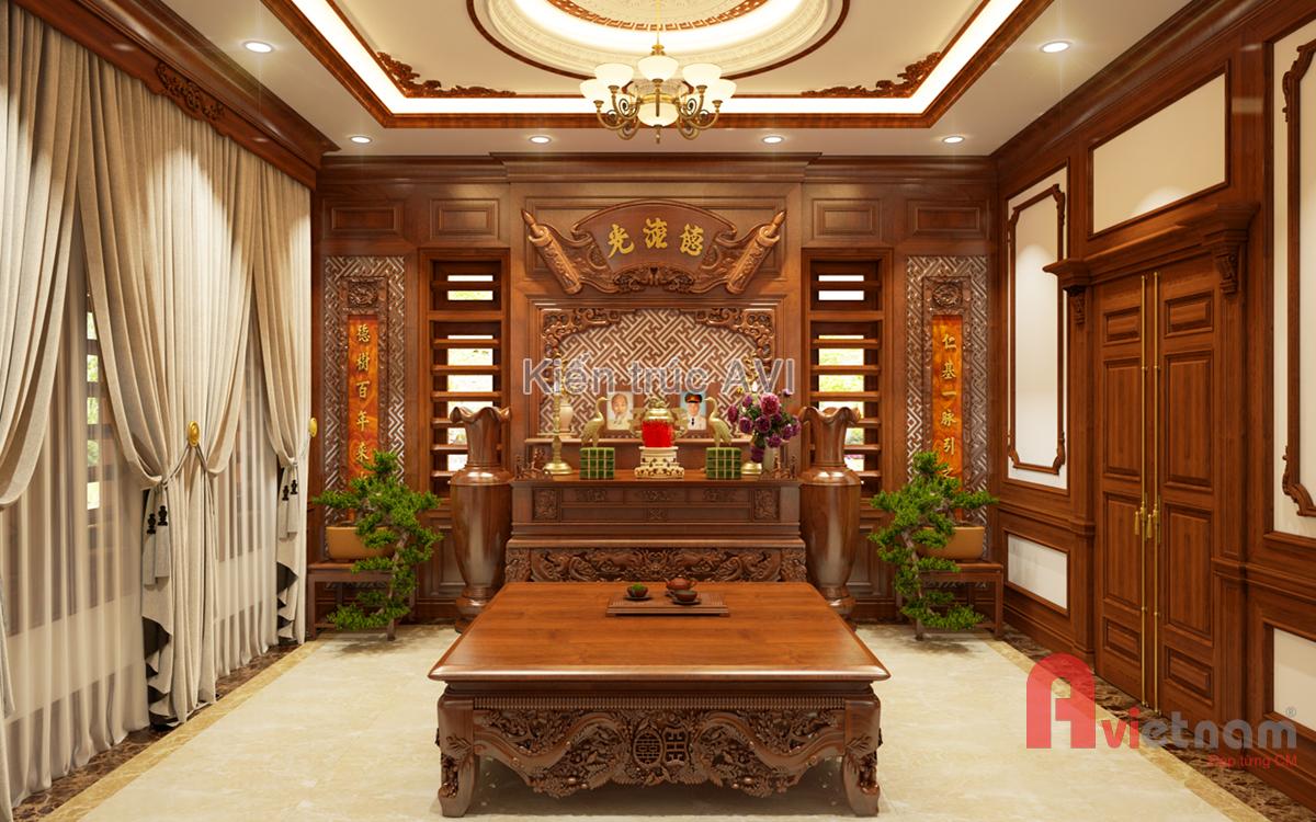 Các mẫu thiết kế không gian nội thất phòng thờ đẹp nhất
