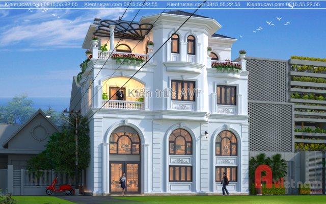 Thiết kế biệt thự 4 tầng tân cổ điển sang trọng tại Hà Nội