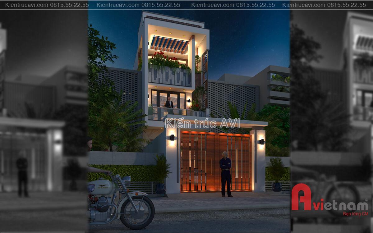 Mẫu thiết kế nhà phố hiện đại