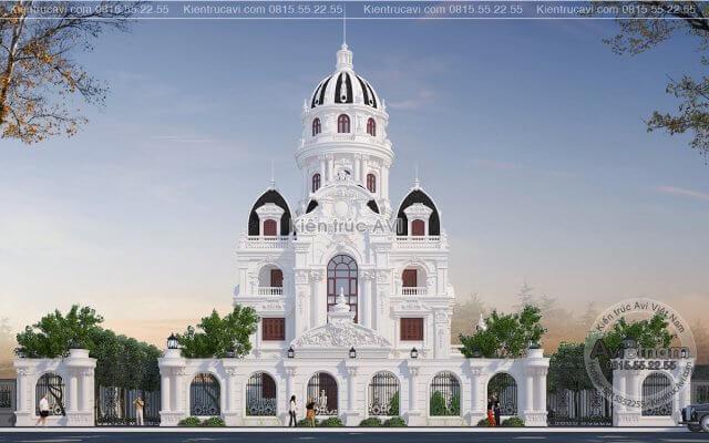 Mẫu thiết kế lâu đài cao cấp kiến trúc cổ điển đầy quến rũ KT21012