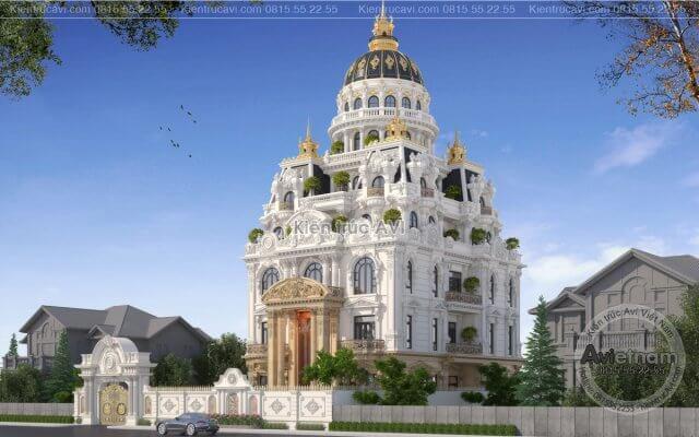 ĐẸP-ĐỘC-LẠ với mẫu thiết kế tòa lâu đài cao cấp 8 tầng KT21022
