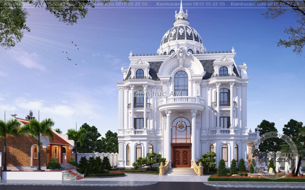 Mẫu biệt thự 3 tầng kiến trúc Pháp sang trọng và đẳng cấp