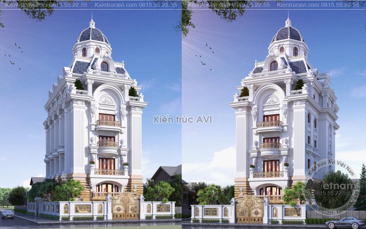 Vẻ đẹp HOÀN MỸ trong mẫu thiết kế tòa Dinh thự cao cấp KT20070